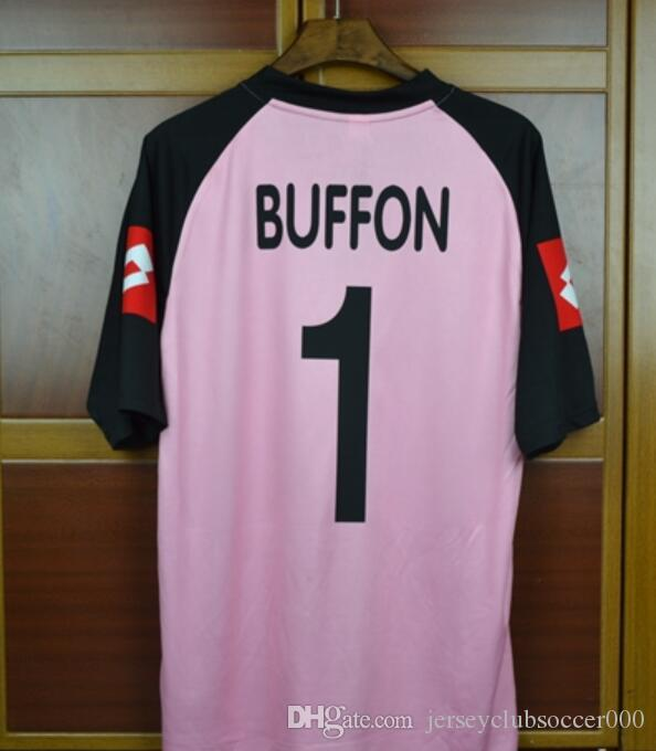 d9c4075506c 2019 02 03 Italia Buffon Goalkeeper Gaolie Retro Jerseys Pink Blue 2002 2003  Champion Final Football Shirt Camiseta Maillot Camisa Futebol Trikot From  ...