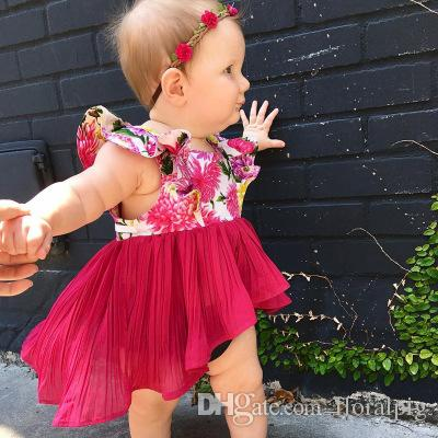 9d8f116c5fa 2019 Fashion Kids Baby Girls Back Long Front Short Dress Baby Girls Summer  Floral Fly Sleeve Sundress Dresses From Floralpig
