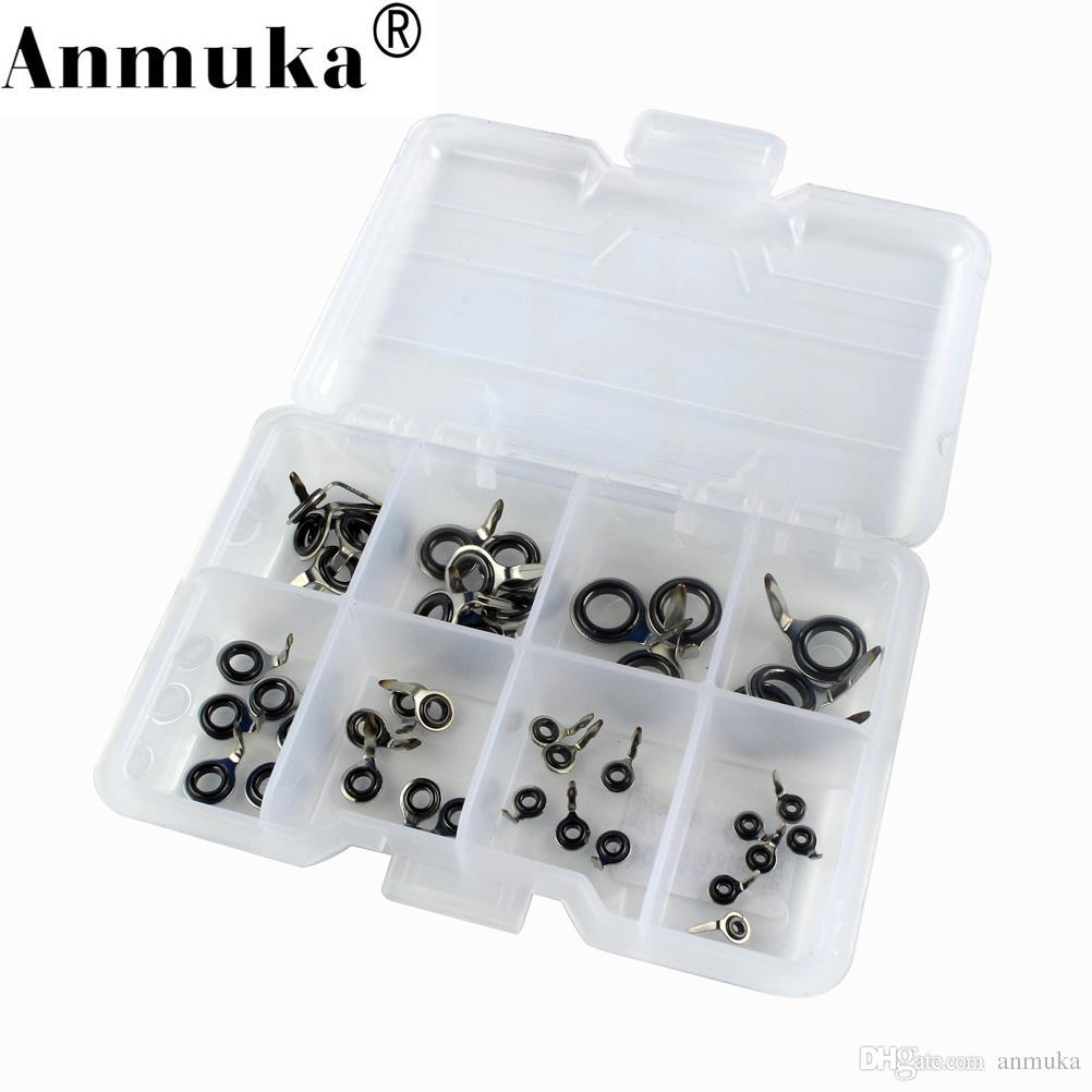 2018 Anmuka Fishing Rod Guides Tip Set Repair Kit With Fish Box Kit ...