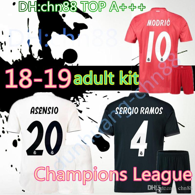 70df719c8 2018 Madrid Jersey Kit Benzema ASENSIO Football Soccer Modric Kroos ...