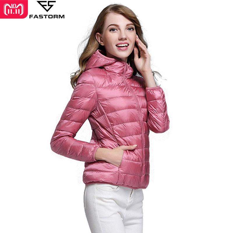 0dd10a225597 2019 FASTORM Hiking Down Jacket Women Camping Winter Warm Hooded Ultralight  Solid Outdoor Light Duck Travel Down Coat Puffer Coats From Cbaoyu