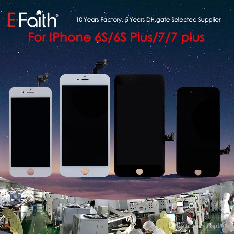 Grado A +++ Display LCD Touch Digitizer Frame Assembly Riparazione per iPhone 6S 6S Plus 7 7 Plus Spedizione gratuita DHL
