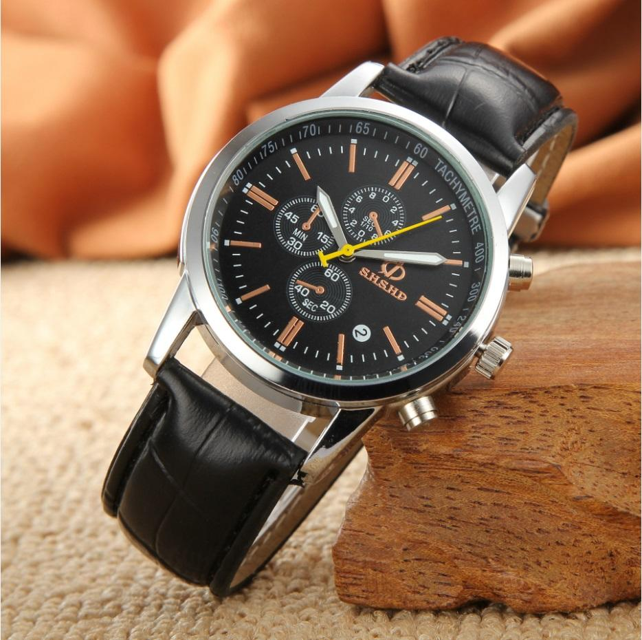 cfd5d8d47f Leisure High Quality Man Watch Fashion Men S Leather Military Casual Analog  Quartz Wrist Watch Business Watches Designer Wristwatches Wristwatches From  ...