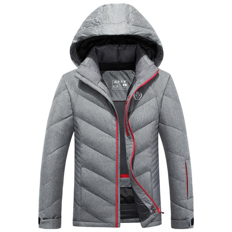 d78375b7946 2018 New Brand Winter Duck Down Jackets Men Thick Parkas Windproof Jacket  Coats Solid Hooded Casual Outwear Clothing C18111901 Online with   106.92 Piece on ...