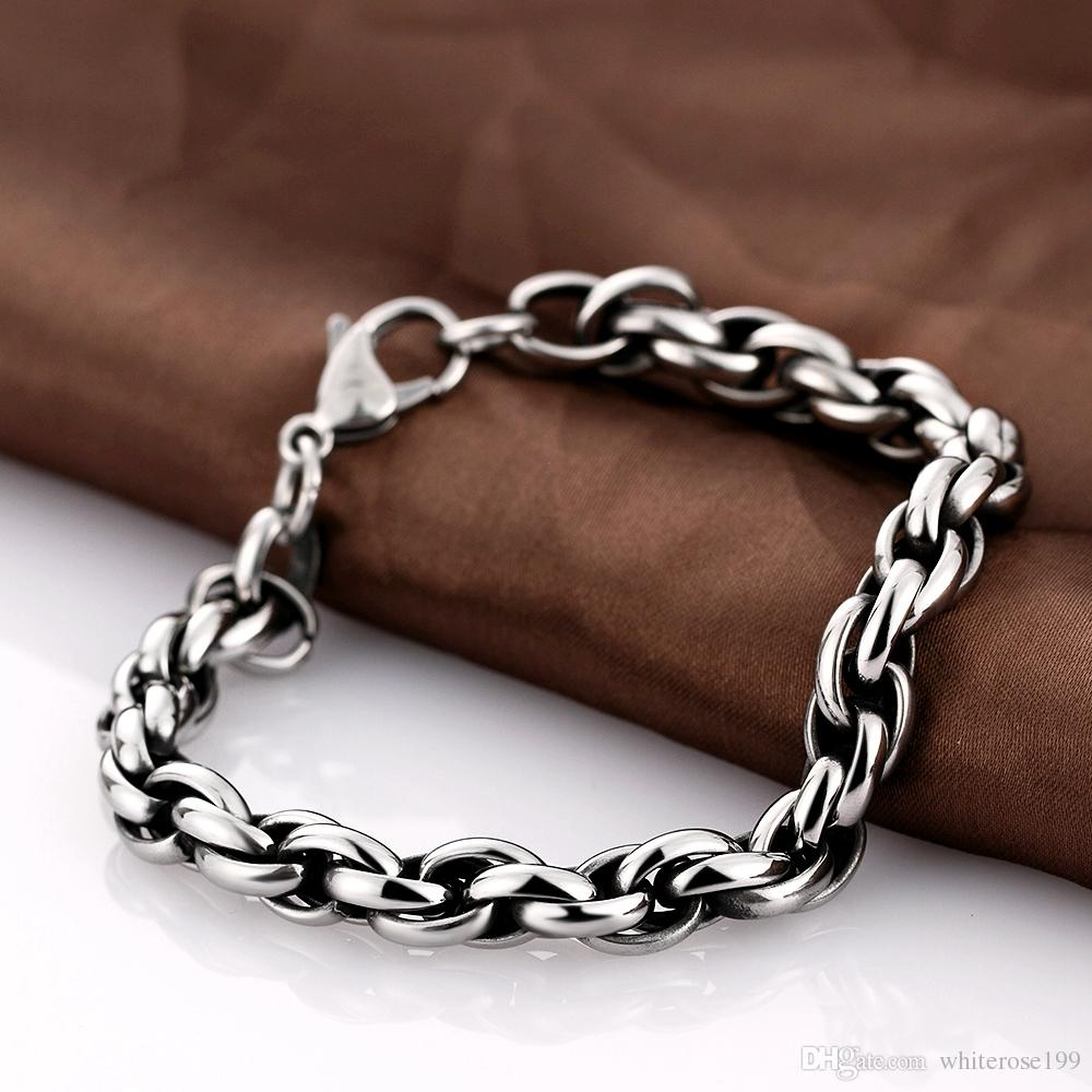 925 Sterling Silver Printed Tin-plated Horse Shoes Bracelet Jewelry, Women's Love Day Gift Circle Linked Men's Bracele tH021