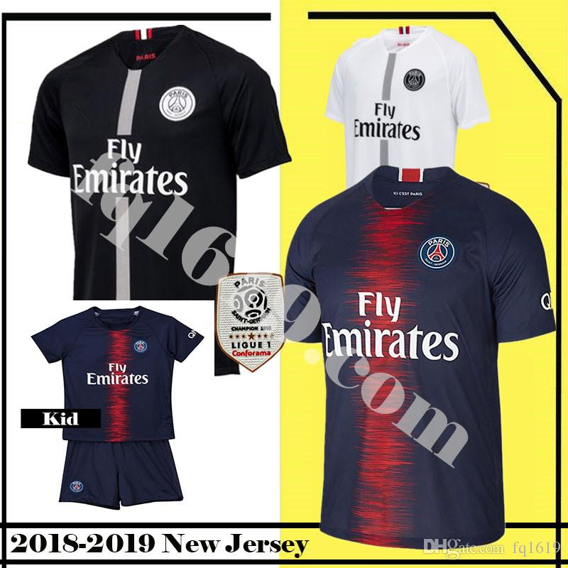 Men s New 7 MBAPPE 10 PSG Home Soccer Jersey 9 CAVANI Paris Saint ... 701967673