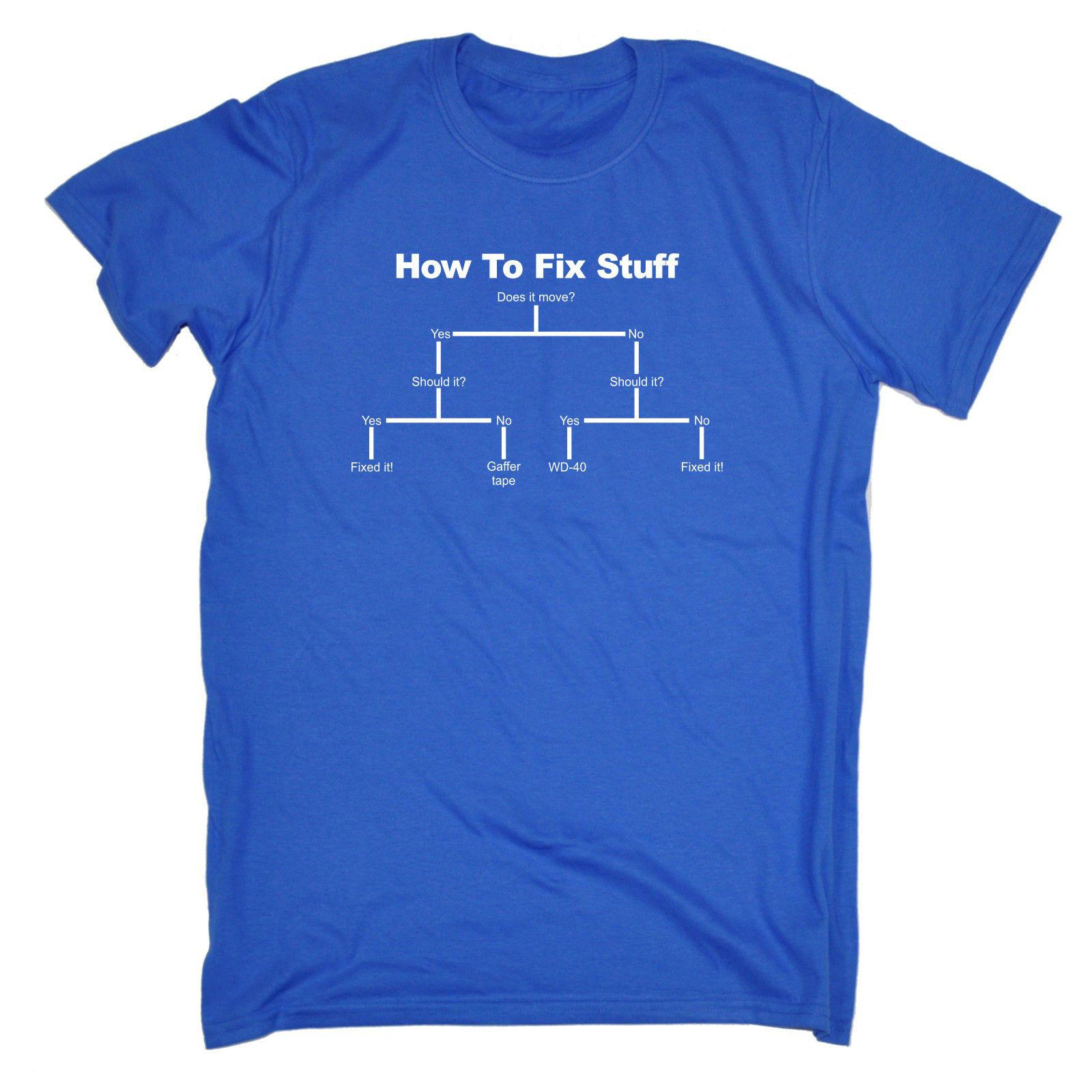 4230ac295f How To Fix Stuff T SHIRT Tee Him Diy Engineer Builder Funny Birthday Gift  Funny Casual Tee The Following T Shirts This T Shirt From Fatcuckoo, ...