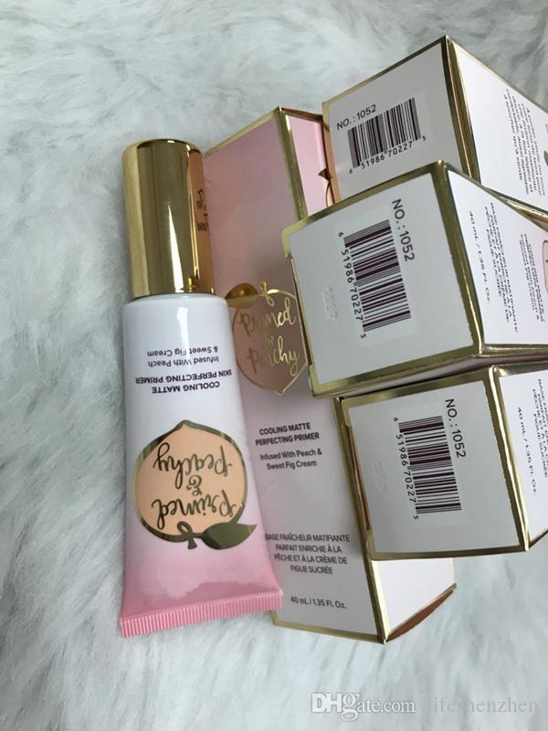 Newest Makeup Primed Peachy 40ml Cooling Matte Skin Perfecting Primer Primed Infused with Peach&Sweet Fig Cream Faced DHL shipping