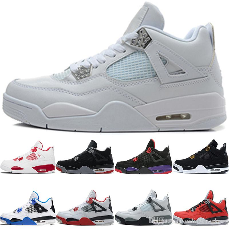 gezüchtet Bravo White Nike Royalty Geld reines Jordan Raptoren Toro Herren Retro Black 4s Günstige Red Basketball Männer 4 Air Zement Feuer Schuhe BxsrQthdC