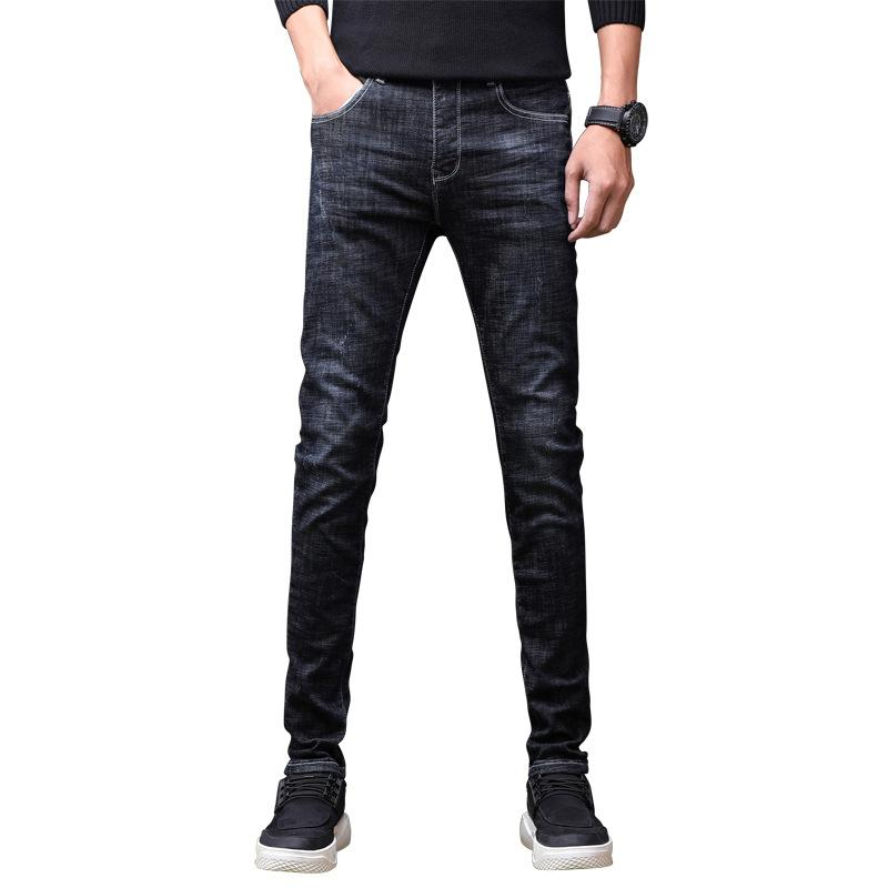 b445fdb0ef ... Marca De Diseñador Para Hombre Pantalones Vaqueros De Alta Calidad Azul  Color Negro Recto Rasgado Jeans Para Hombres Pantalones De Mezclilla De Moda  ...