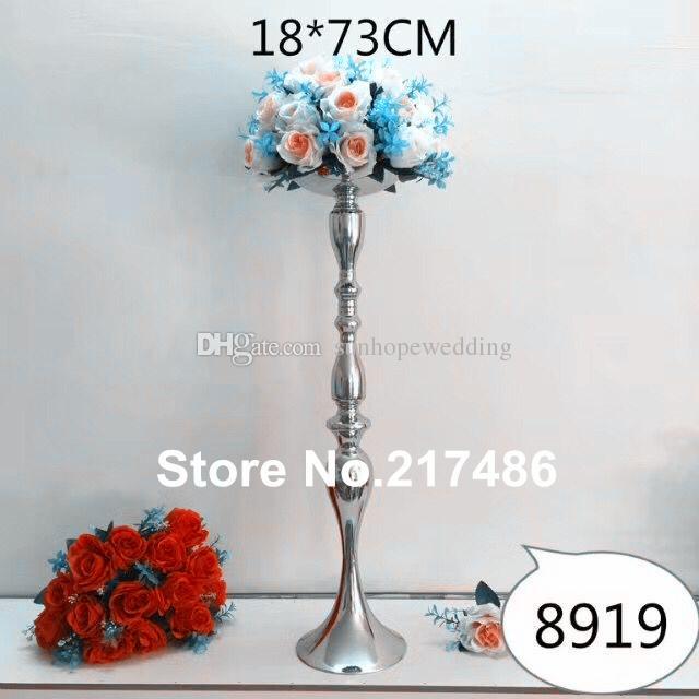 alto y gran piso de pie candelabros de oro con cuenco de flores, centros de mesa de flores candelabros