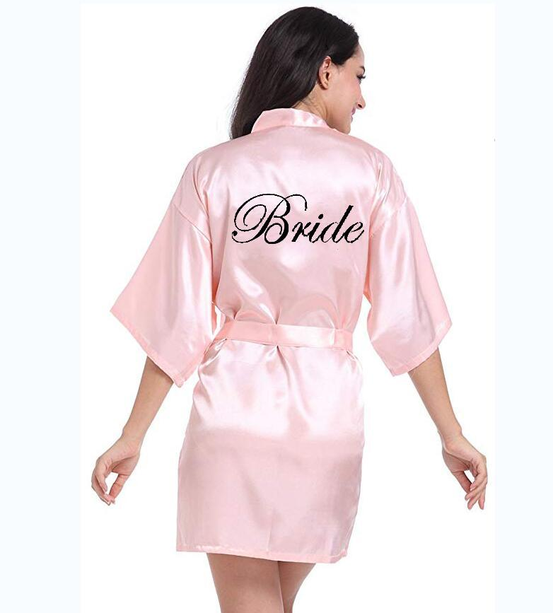 2018 Personalized Printed Bridal Party Robes Bridesmaids Mother Of The Bride Groom Maid Of Honor Wedding Day Gift Satin Robe From Liangcloth