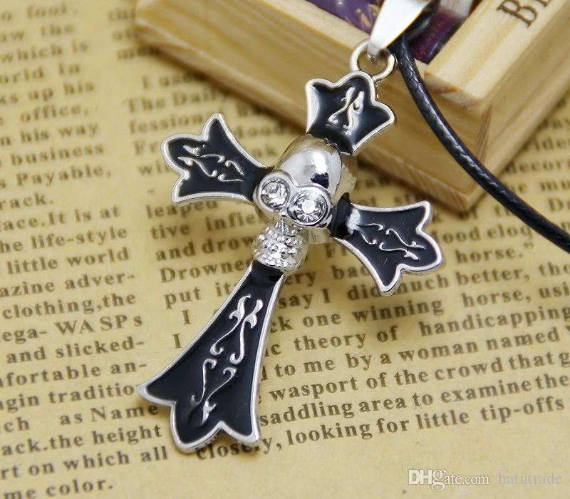 metal skull cross necklace for men silver alloy pendants for women diy mens necklace jewelry gift