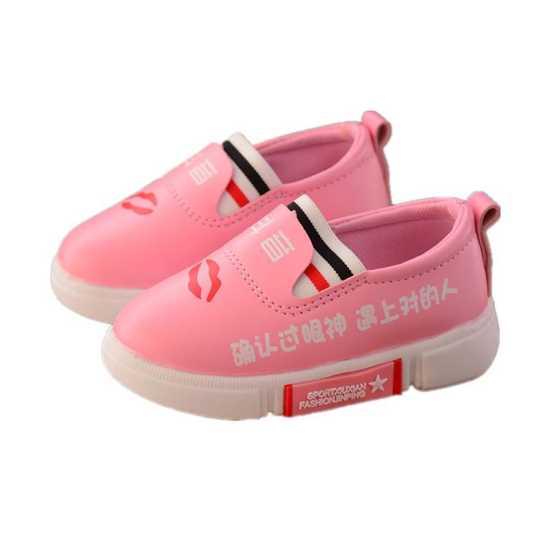 b5f4595d Compre 2018 Otoño 1 3 Años Zapatos Para Niños De Nuevo Estilo Zapatos  Suaves Zapatos Blancos De Suela Liviana Zapatos De Mocasines Casuales De  Niñas.