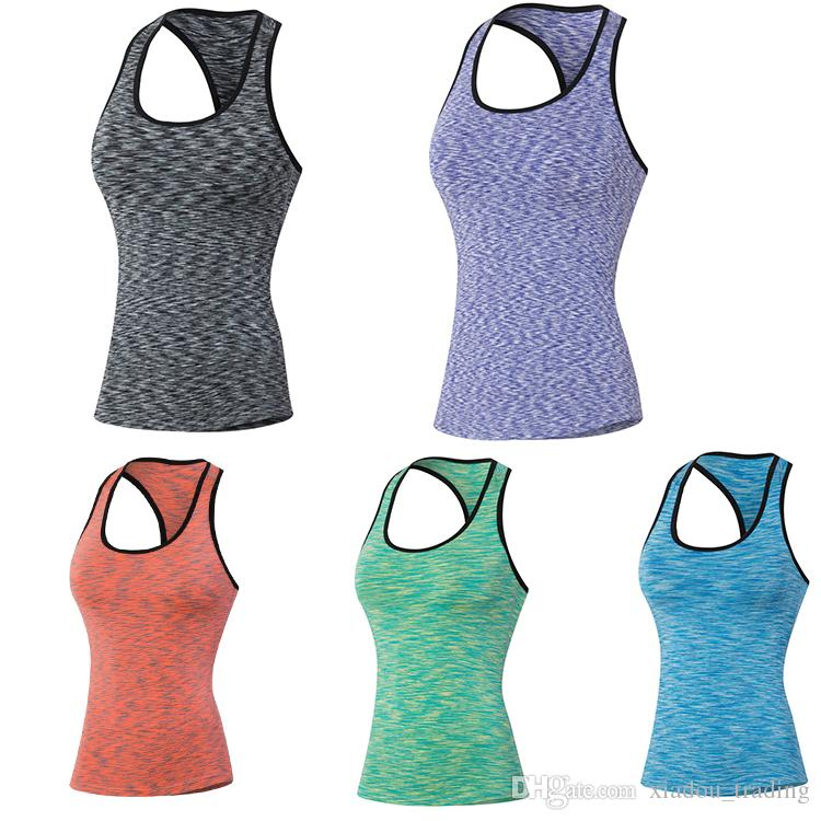 c2a4a4d9646b 2019 Womens Running Vest Tops Women Camisole Vest Simple Stretchable Ladies  Sport Vest Bodybuilding Fitness Shirt Yoga T Shirt Gym Jogging From ...