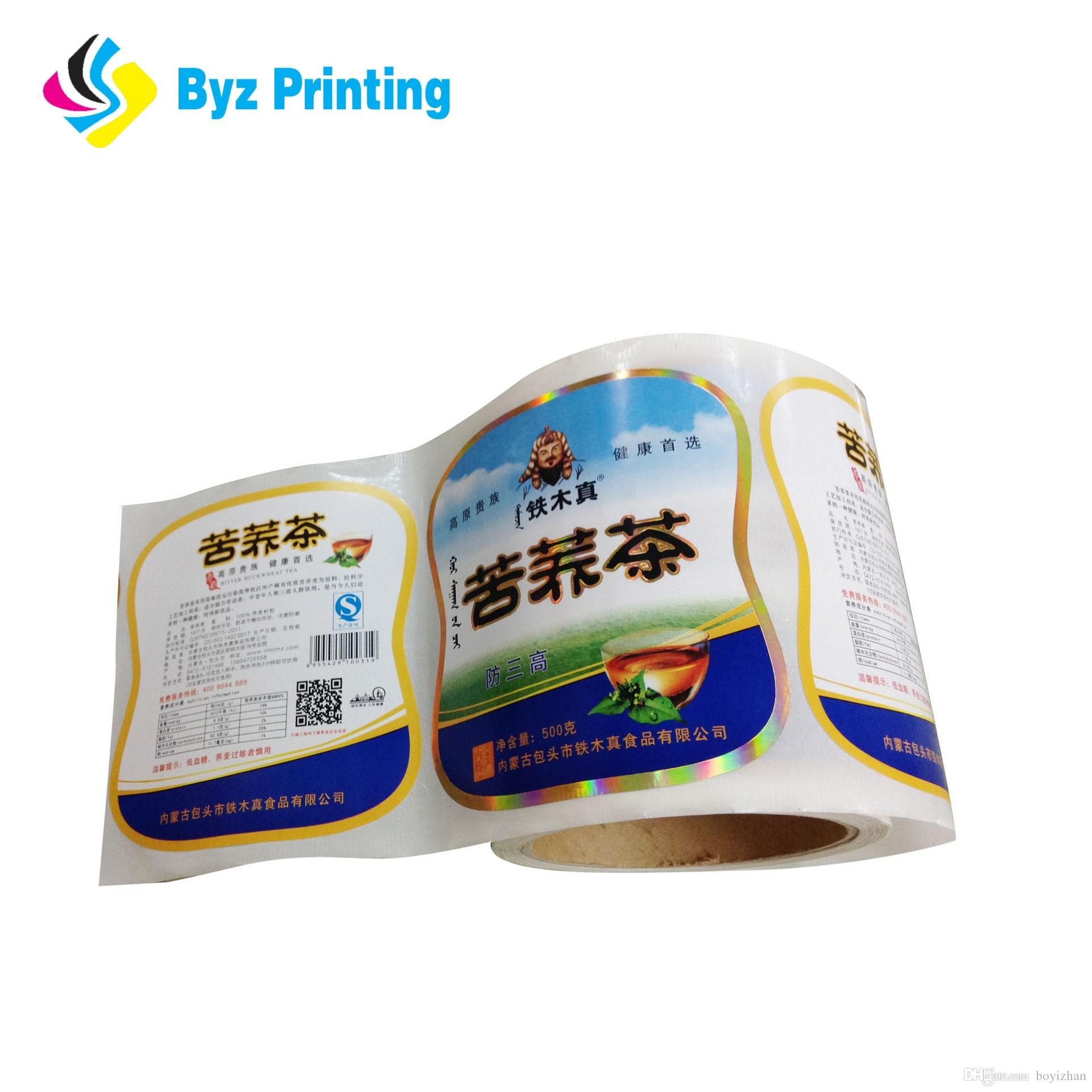 Custom logo sticker paper adhesive labels printing roll easy peel off logo sticker sticker paper adhesive sticker online with 0 12 piece on boyizhans