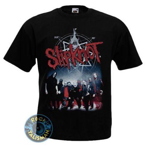 Met Heren Mouw Metal Hard Punk Band Rock Heavy shirt Slipknot T Korte PkiXZOu