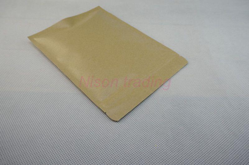 15x22cm Brown Kraft Paper Aluminium Foil Ziplock Bag, pack beef jerky paper mylar zipper seal food pouch dustproof, zip lock sack