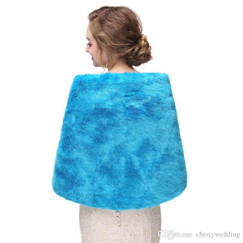 CMS04 High quality faux fur bridal wrap, Elegant Boleros Shrugs perfect for brides, bridesmaids and events wears