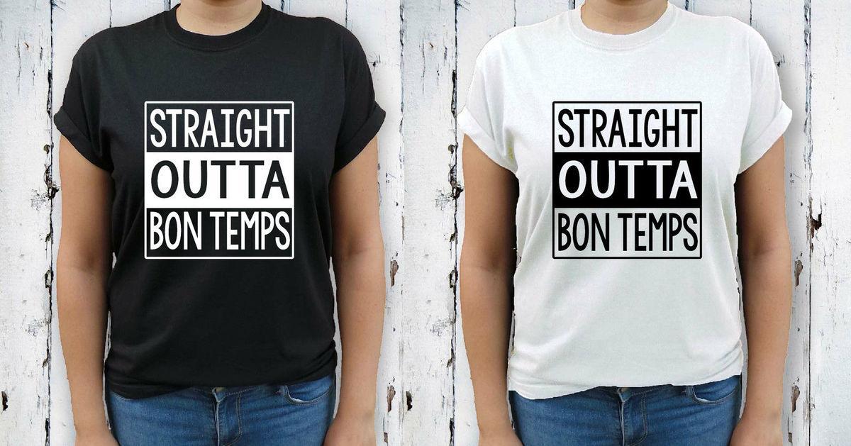 b20ef07855 Straight Outta Bon Temps True Blood Bill Sookie Eric Women'S Teen T Shirt  TopMen'S T Shirts Summer Style Fashion Swag Men Shirts Designer Designer  White T ...