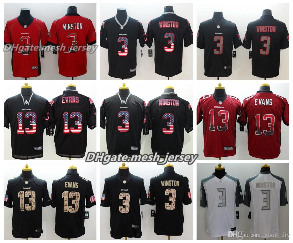 2018 2018 Men Tampa Bay Jersey Buccaneers 13 Mike Evans 3 Jameis Winston Color  Rush Stitching Football Jerseys Embroidery Logo S XXXL From Num sport a51c19bcd4