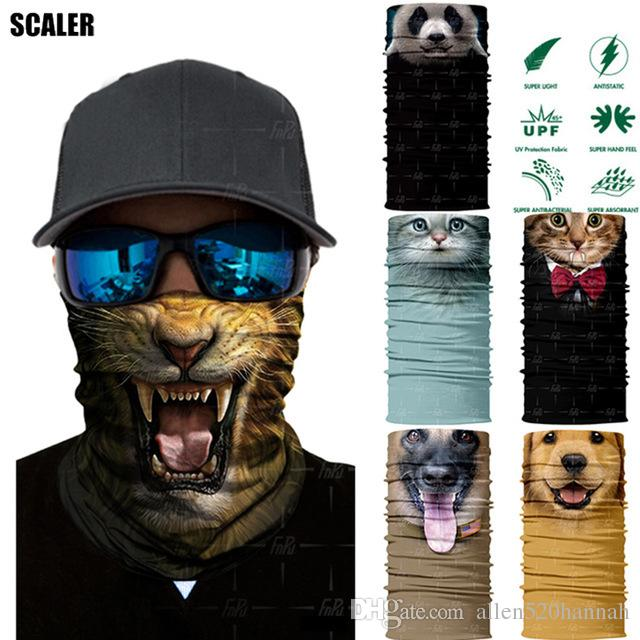 3D Seamless Bandana Buffs Magic Headband Animal Dog Panda Tube Shield Face  Mask Bandanas Headwear Ring Head Scarf Snowboard Hiking Scarves Skull Scarf  Cheap ... 7bfc1998d42