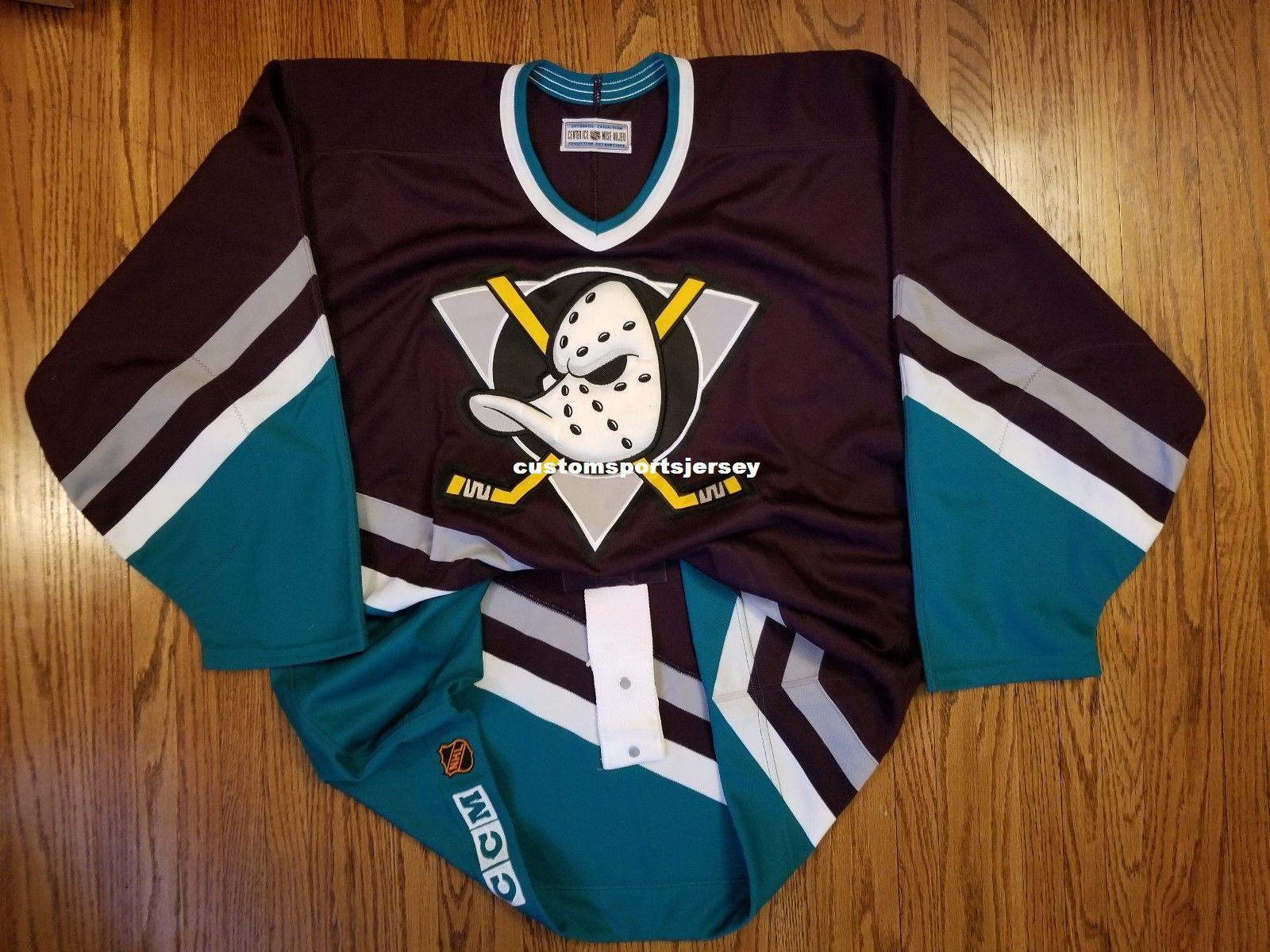 bea6beab 2019 Cheap Custom Anaheim Mighty Ducks Vintage CCM Center Ice Jersey  Stitched Retro Hockey Jersey Customize Any Name Number XS 5XL From  Customsportsjersey, ...