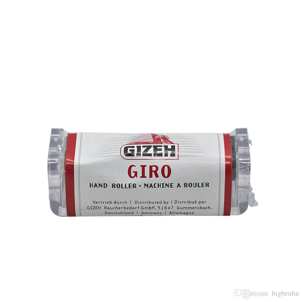 New 70MM GIZEH Plastic Manual Cigarette Tobacco Rolling Machine Injector Case Roller Maker Vaporizer Smoking Accessory