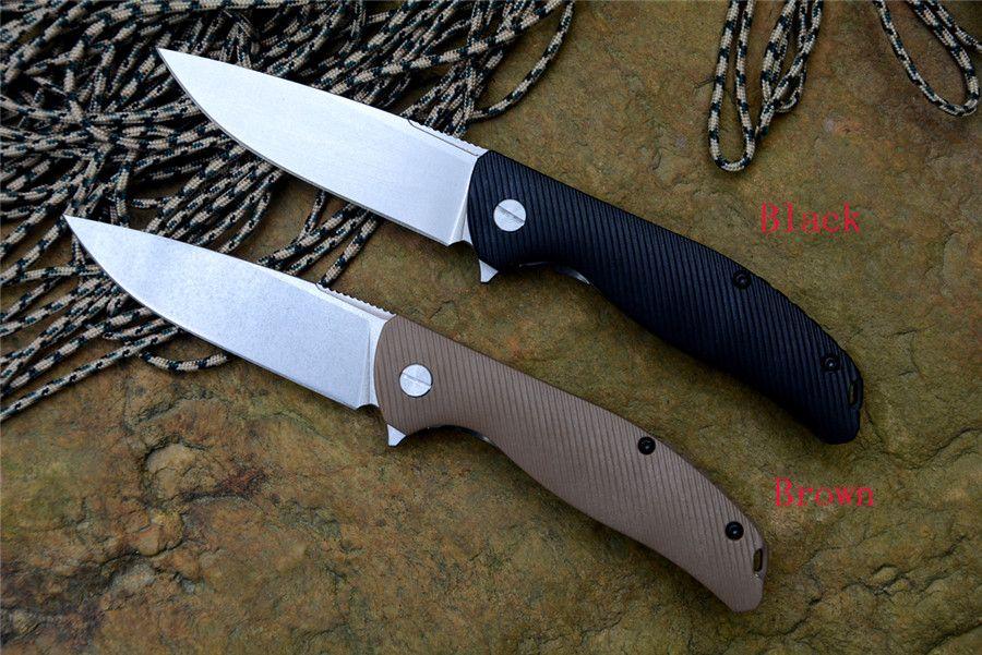 Y-START Flipper Klappmesser 420 Klinge Zytel Griff Überleben Messer Jagd Camping EDC Werkzeuge Drop-Point