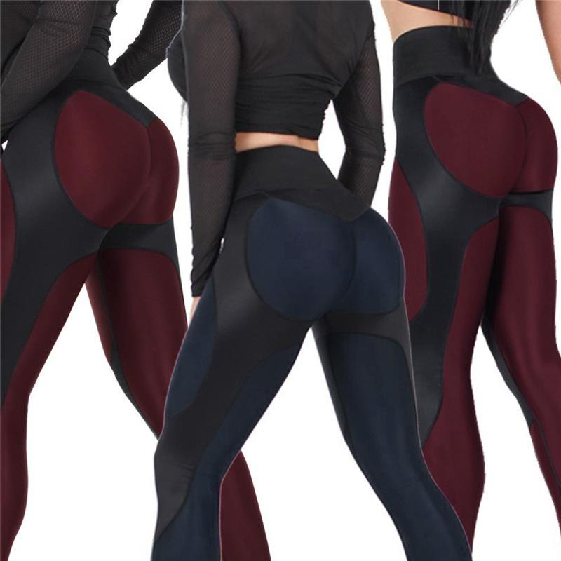 ea55445cc7992 High Waist Women New Leggings Fitness Adventure Time Patchwork Thick ...