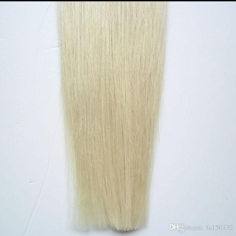 613 cabelo loiro virgem Micro Nano Loop Anel de Cabelo 100g 7a 100% Remy Cabelo Em Linha Reta micro contas extensões Nano Anéis Contas