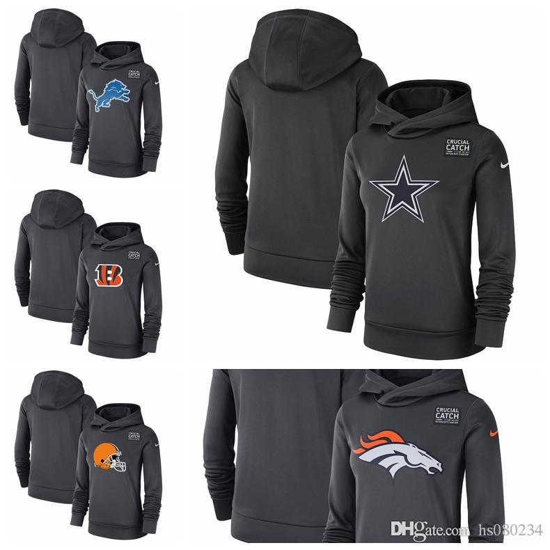 2019 Cincinnati Bengals Cleveland Browns Dallas Cowboys Denver Broncos  Detroit Lions Women S Crucial Catch Performance Pullover Hoodie From  Hs080234 cf0337c1c