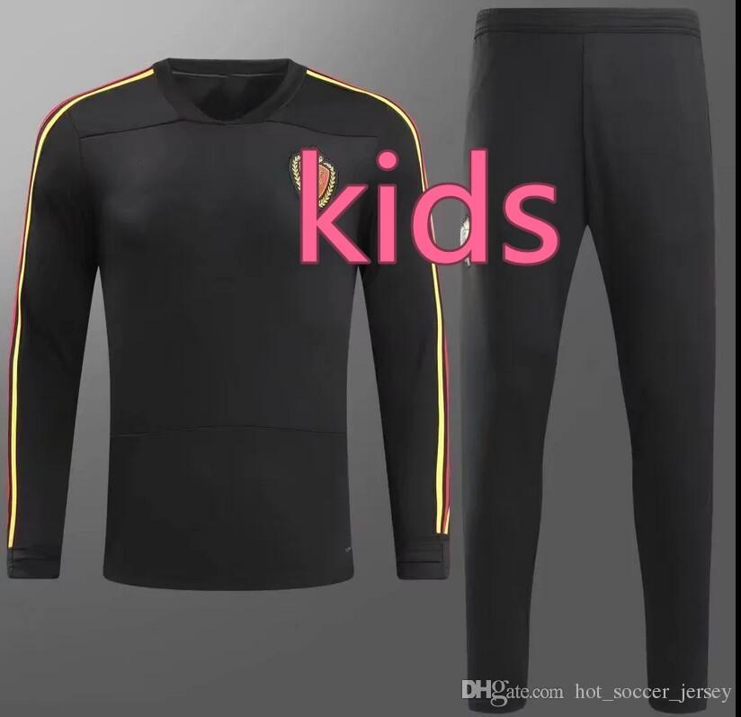 66da0856d8f102 TOP QUALITY 2018 Kids World Cup Belgium Sportswear Training Suit 17 ...