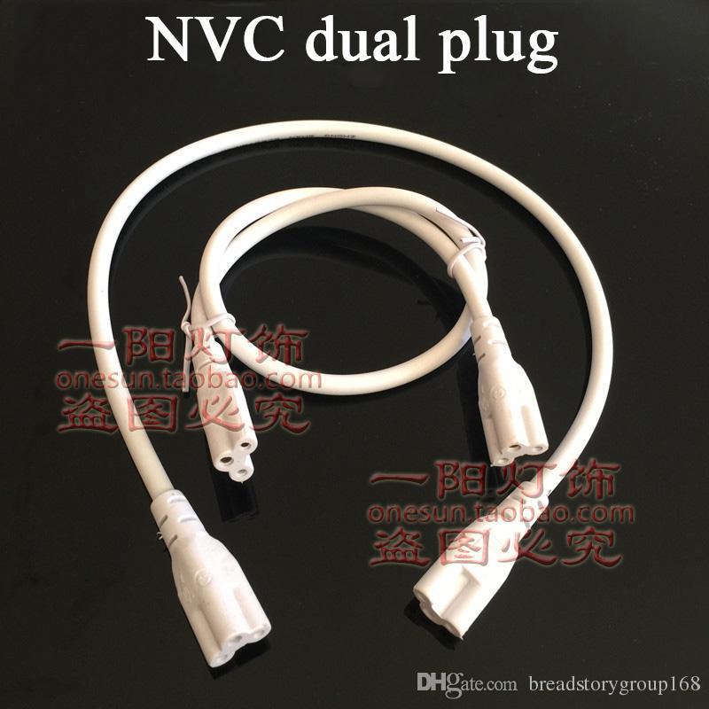 NVC Single Female Plug Connectors Dual Female Plug Power Cable 3 Cores Male Female Connector Adapter for T5 Bracket LED Light