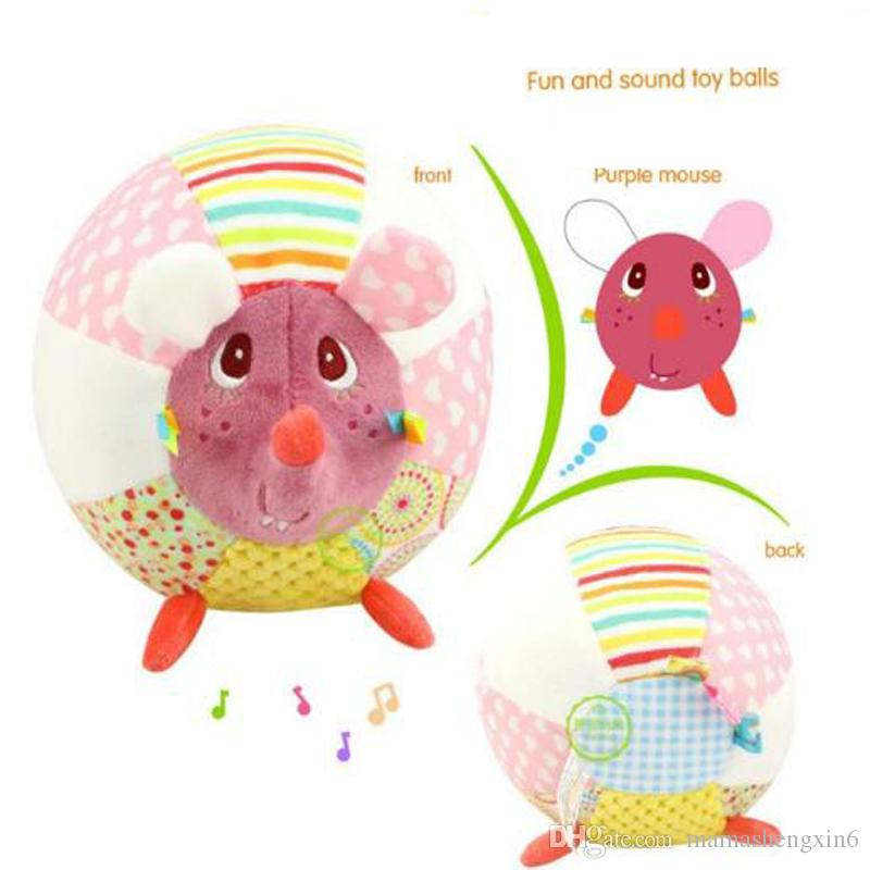 Baby Plush Toys Bell Musical Cloth Ball Early Education Sounding Balls Animals Developmental Soft Stuffed Doll Bed Rattles Kids Gift