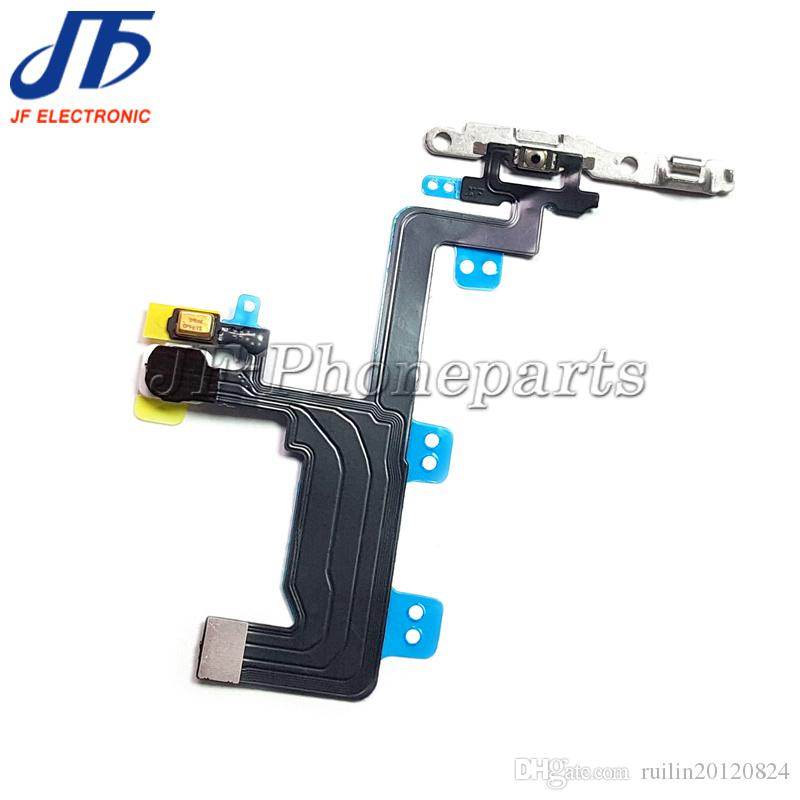 100pcs/lot High Quality New Power Button On Off Flex Cable For iPhone 6 6G 6 Plus Mute Volume Switch Connector Ribbon Parts