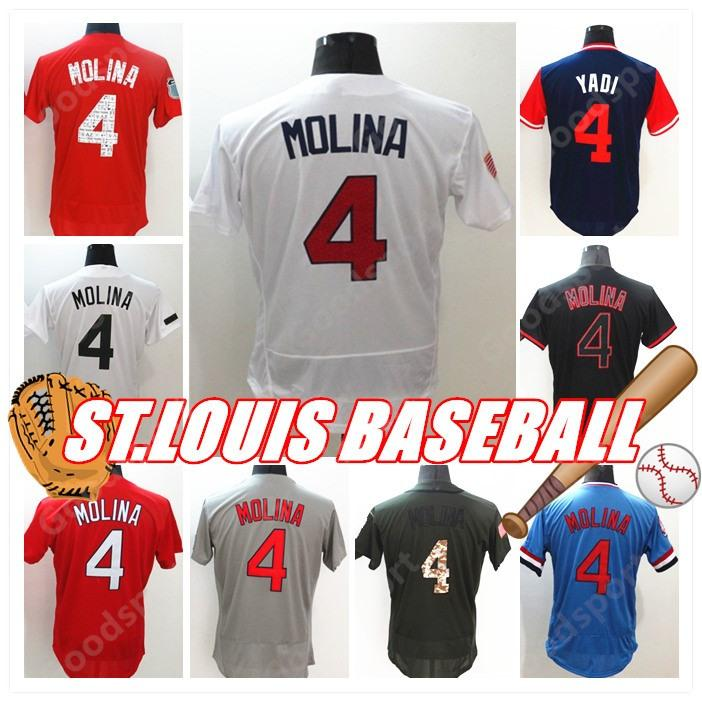 a187a962e HOT ST LOUIS 1 Ozzie Smith Jersey 25 Dexter Fowler 4 Yadier Molina 6 ...