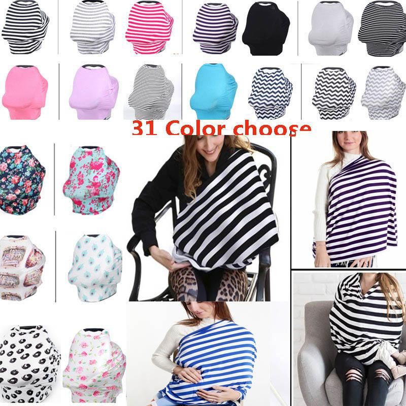 31 Design Baby Car Seat Cover Toddler Nursing Privacy Wrap Multi Use Stretehy Scarf Shipping HH7 977 Gift Novelty Gifts From Seals168