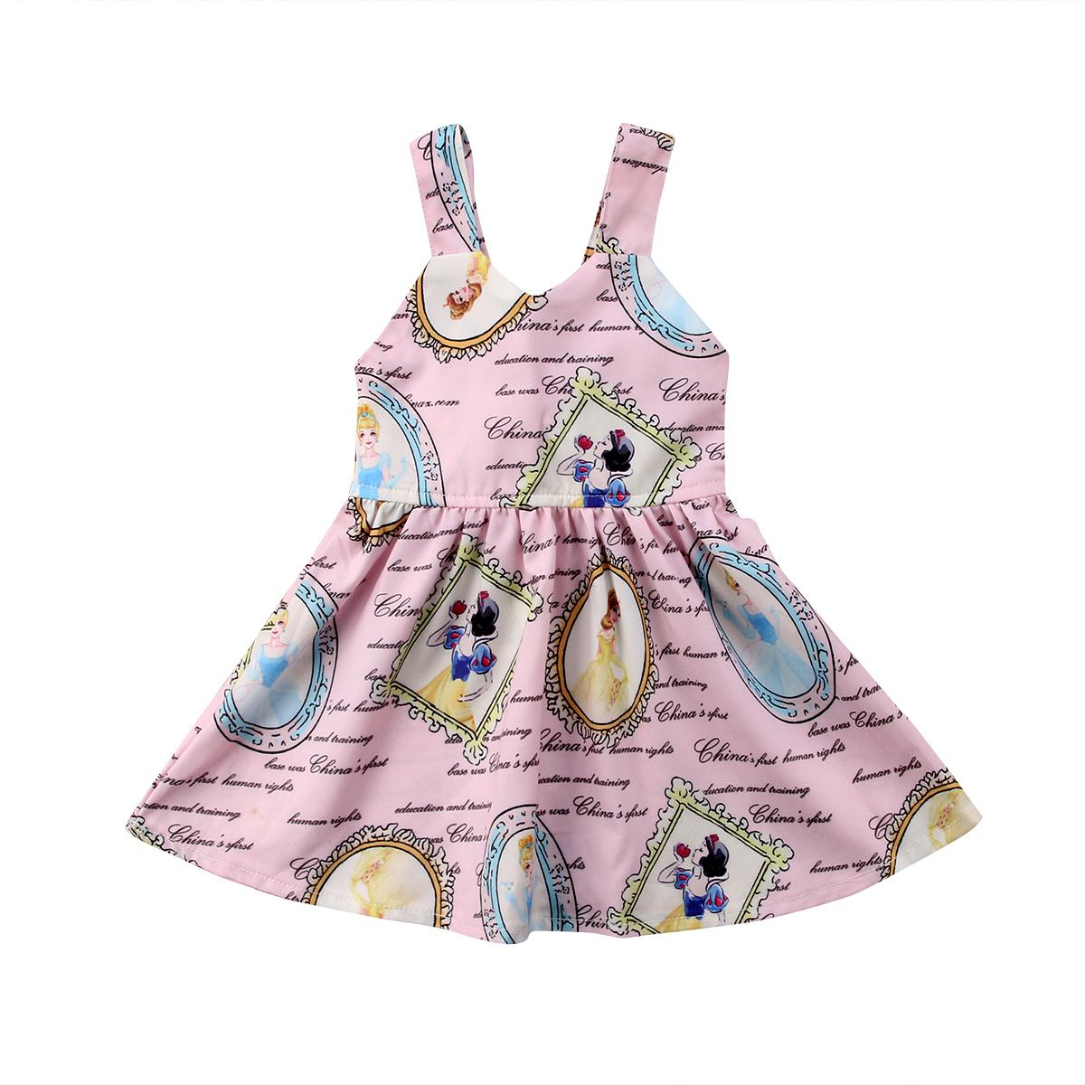 c63dd05b632c 2019 Toddler Newborn Baby Girls Princess Cute Party Sleeveless Tutu Dress  Backless Bowknot Sundress Cotton Mini Dress Baby Girl 0 3T From Paradise13