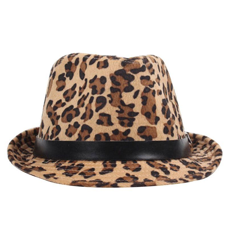 2019 2018 Women Korea Style Spring Autumn Leopard Printed Fedoras Casual  Black Belt Trilby Hat Fancy Jazz Bowler Hat From Grandliu 0c95225fb92