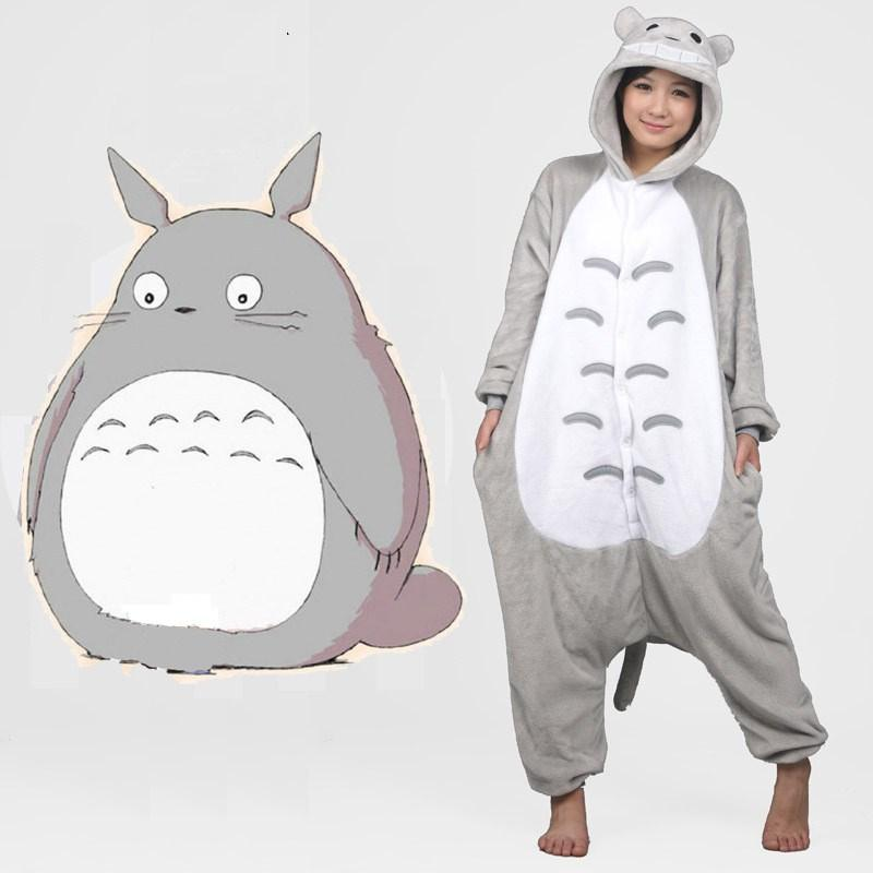 2019 Kigurumi Women Rainbow Unicornio Pijama Full Flannel Totoro Pajamas  Pyjamas Adult Costumes Sleepwear Home Clothing Plus Size From Wangzi001 243a41b1c2599
