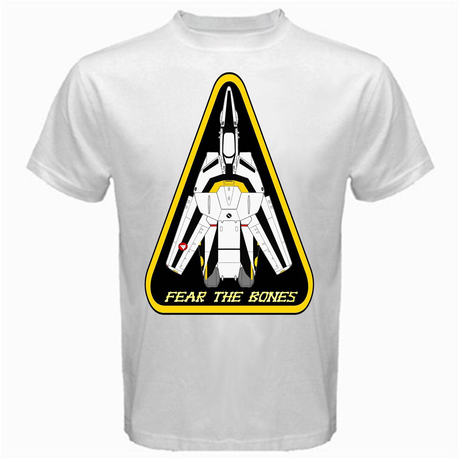 Robotech Macross Fear The Bones Classic Japan Movie T Shirt White Basic Tee  Mens 2018 Fashion Brand T Shirt O Neck 100%cotton T Shirt Tops Funny Slogan  T ... c093badd366