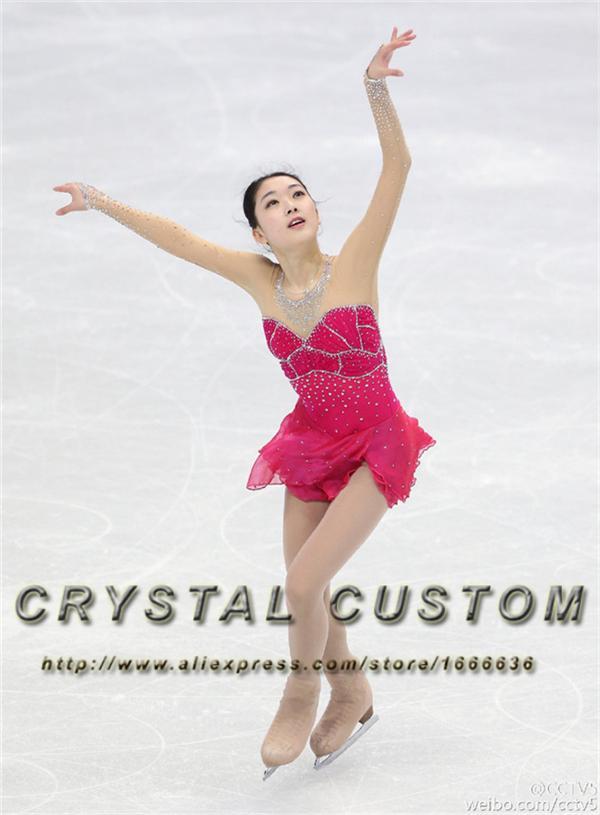 0522576b0 Vestidos de patinaje artístico personalizado para niñas Vestido de patinaje  sobre hielo de la nueva marca de moda DR3348