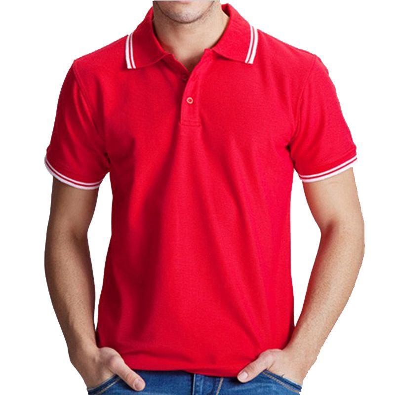 b556a4e0 Compre Camisa De Los Hombres Del Polo Tops Casuales Del Algodón Color  Sólido Polos Rojos Más El Tamaño 3xl Ropa De La Marca Camisa Masculina  Homme Camisetas ...