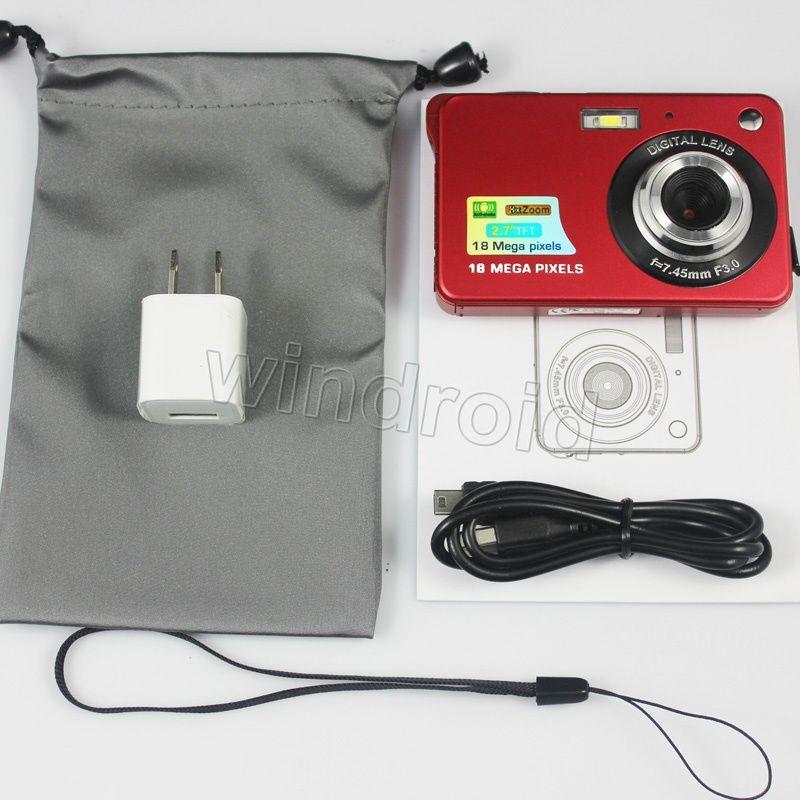 2.7 pulgadas TFT LCD HD 720P 18MP K09 Cámara digital Videocámara Sensor CMOS 8x Zoom digital Anti-vibración Anti-ojos rojos Cámara digital DHL