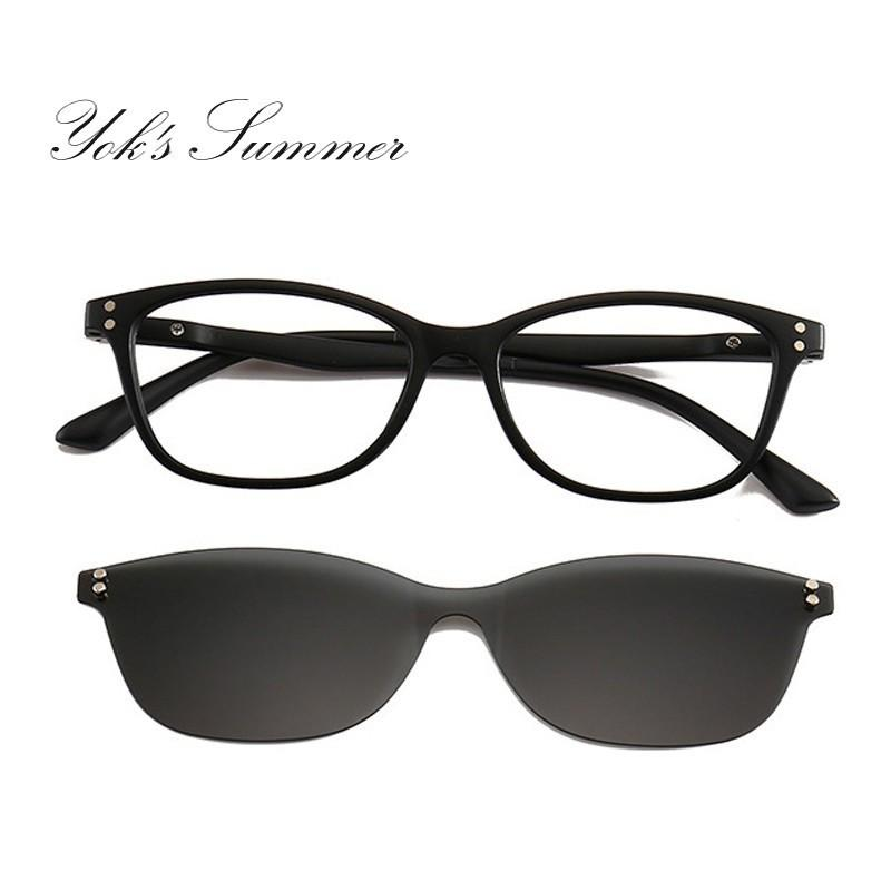 96a7255448c Yok S Rectangle Polarized Magnet Clip On Sunglasses Women Men Rivet TR90  Sun Glasses Night Vision Lens Optical Eyewear Frames WN1093 Victoria  Beckham ...