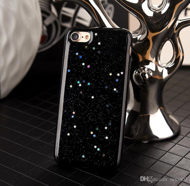 Luxury Shinning Bling Glitter Love Heart Star Clear Silicone Soft TPU Case for iPhone X 8 7 6 6S Plus iPhone7 iPhone8