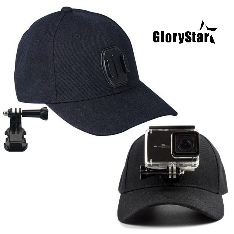21d12944 GloryStar Sports Camera Hat For Gopro Accessories Adjustable Cap With  Screws And J Stent Base For GoPro HERO 6 5 4 / 5 4 Session Ar Drone Parrot  Rc Drone ...