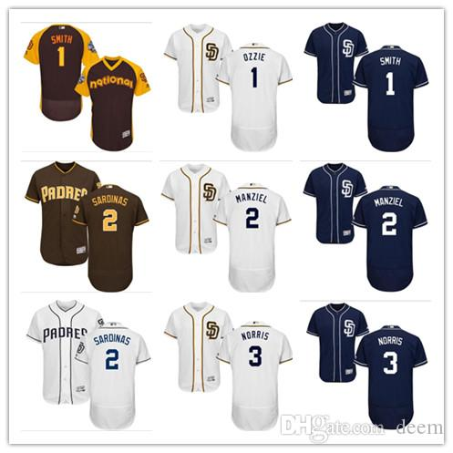best cheap f4f56 66e1c Men women youth San Diego custom Padres Jersey #1 Ozzie Smith 2 Johnny  Manziel 3 Derek Norris Blue Grey White Baseball Jerseys