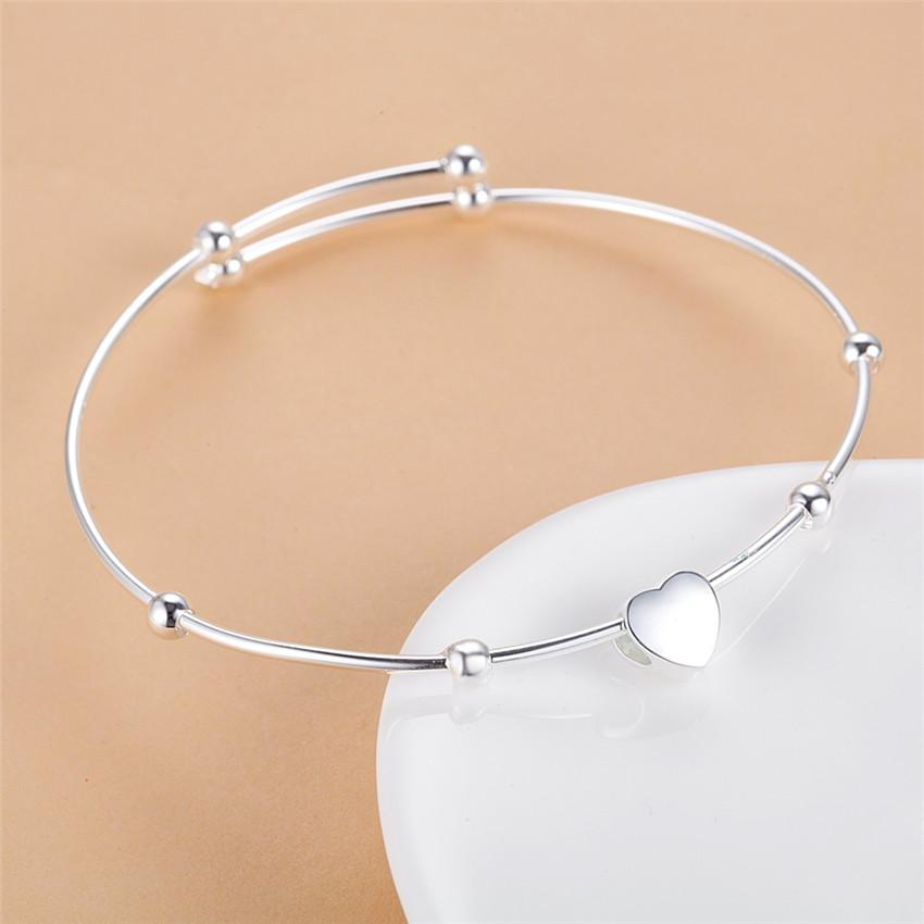 2016 silver color mickey bangles for women Classic charm design fashion jewelry beautiful Christmas gifts top quality hot